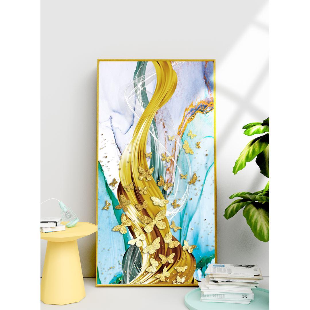 Altın Kelebekler Kanvas Tablo