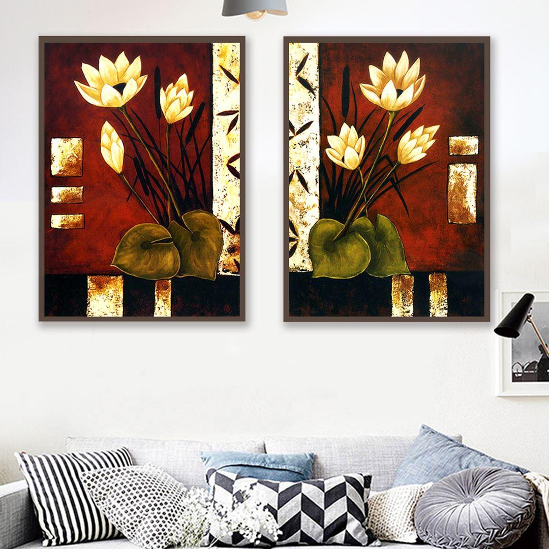 Natural Flower Canvas Set