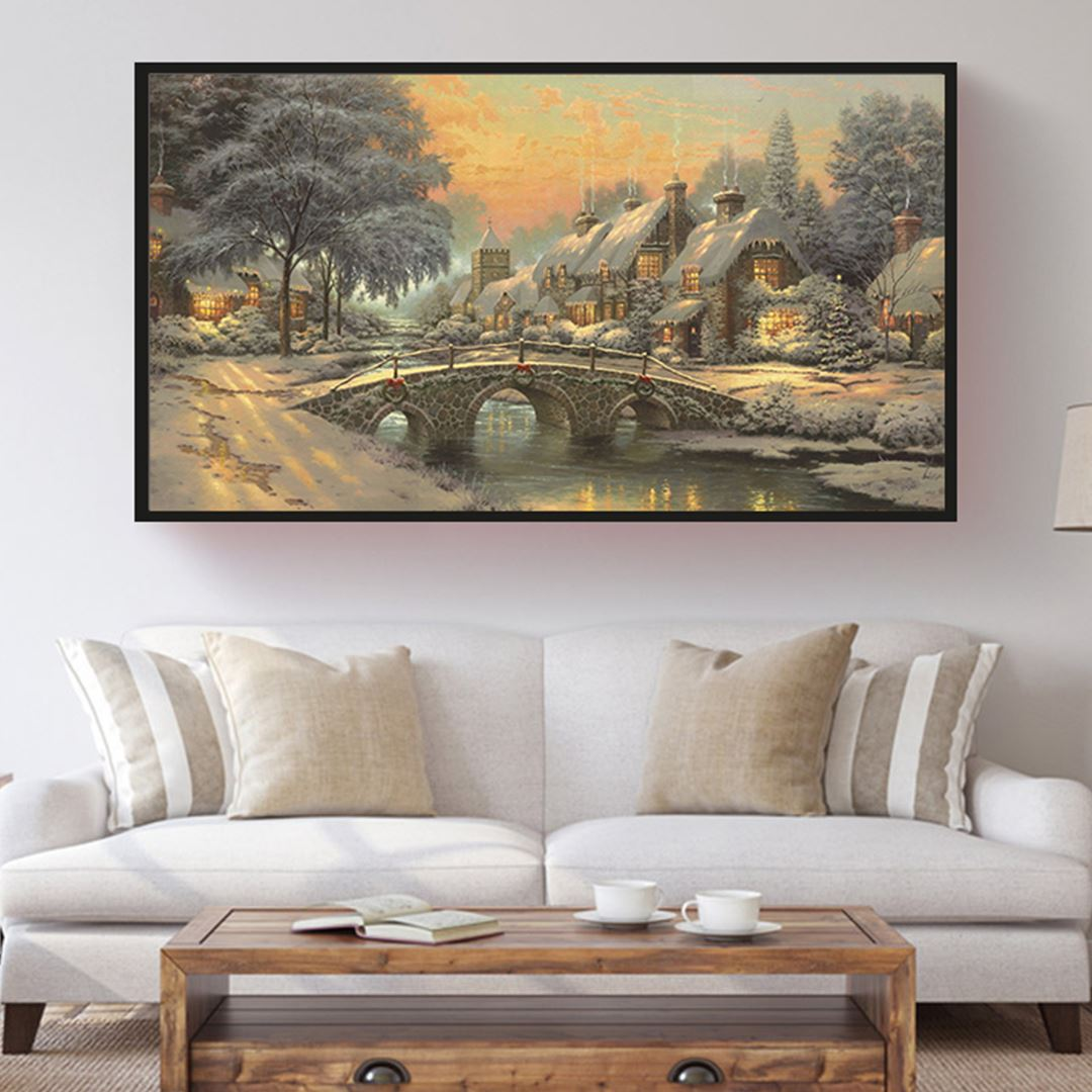 Kış Manzarası Kanvas Tablo