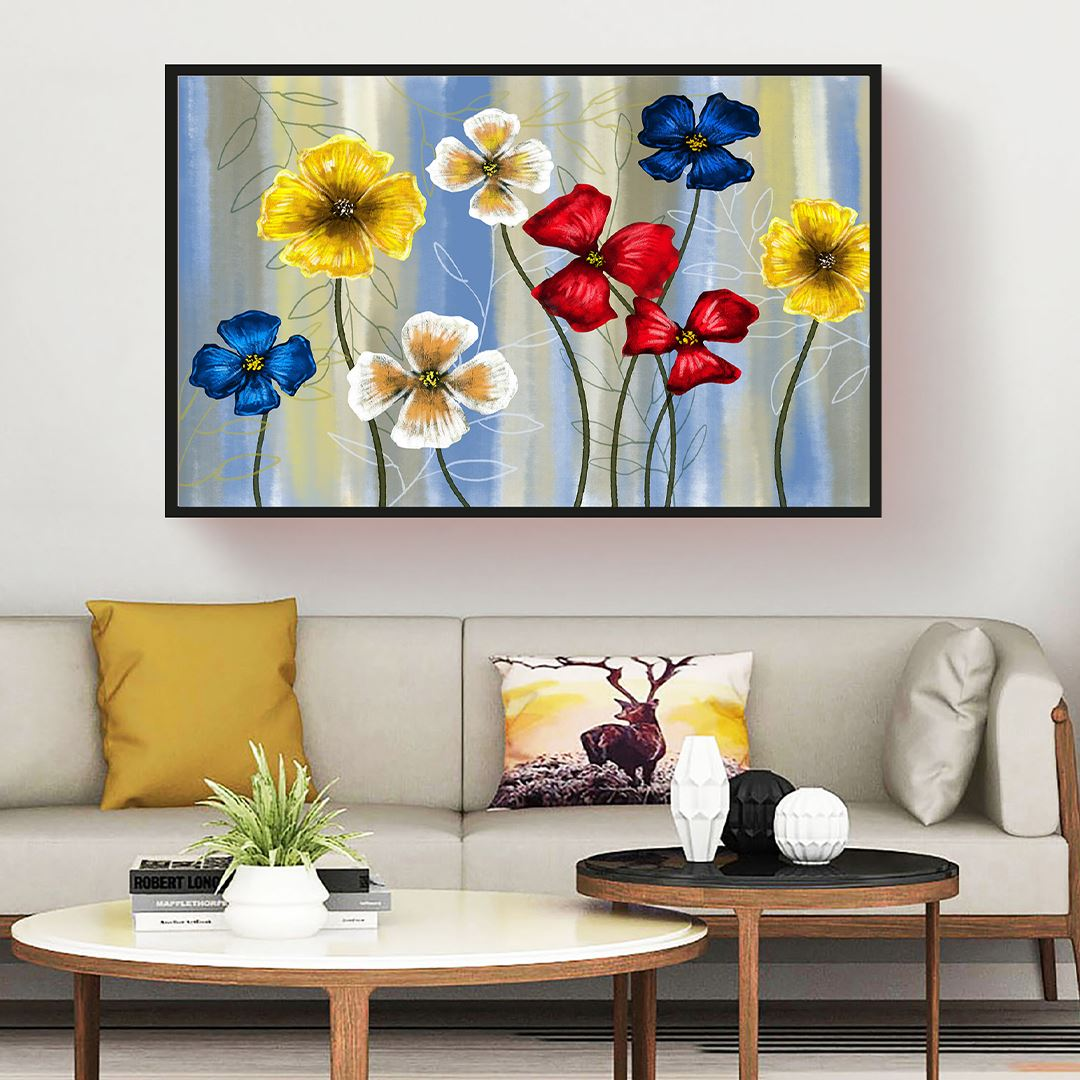 Colorful Flower Canvas