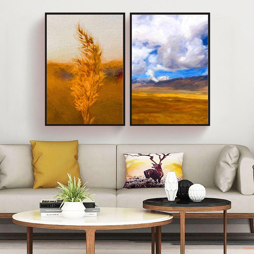 Natural Dekoratif Kanvas Set