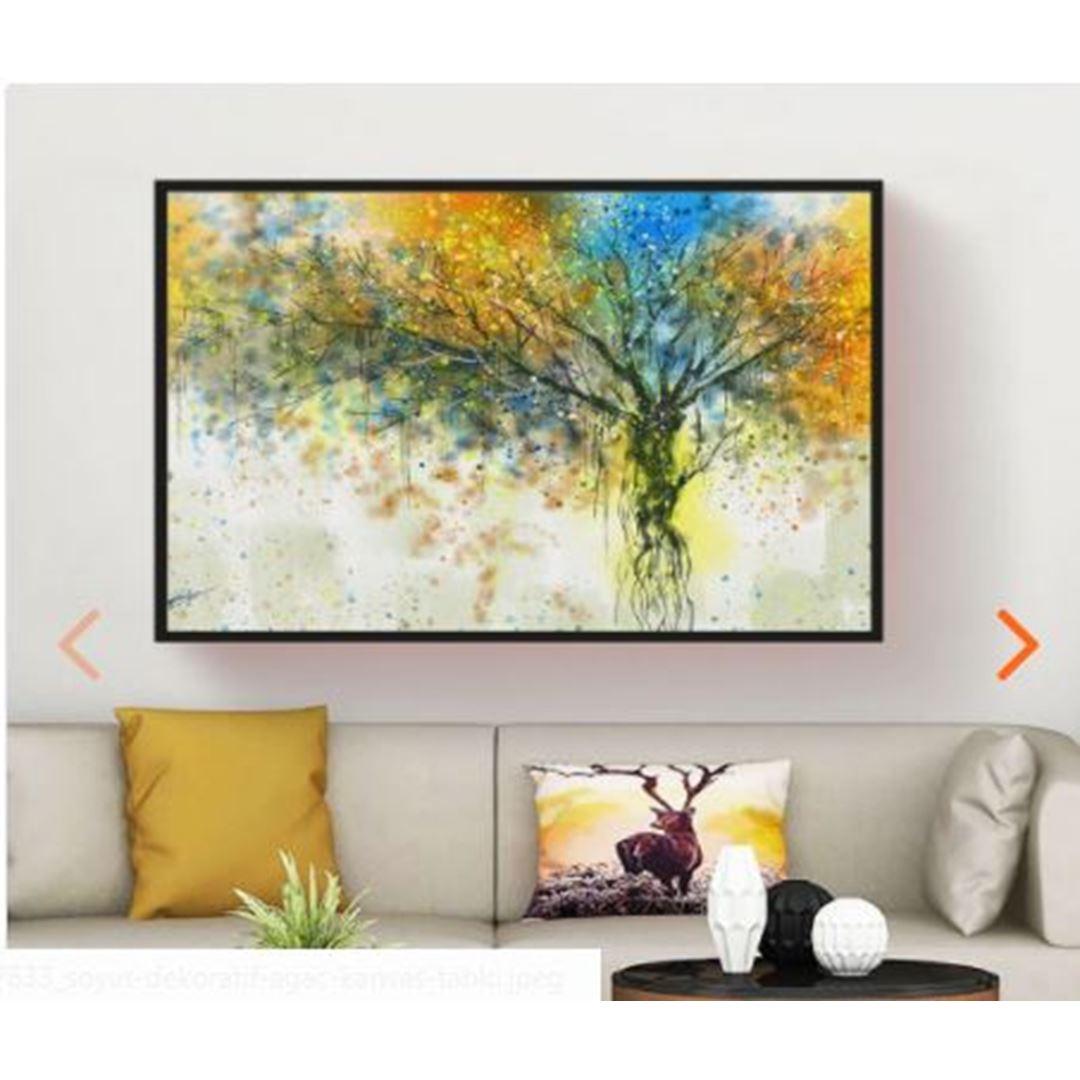 Soyut Dekoratif Ağaç Kanvas Tablo (Büyük Ölçü)