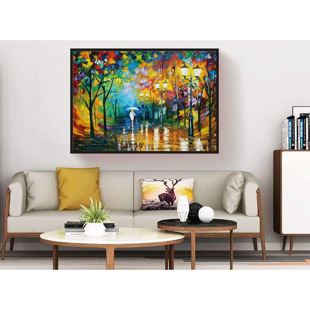 Autumn and woman canvas
