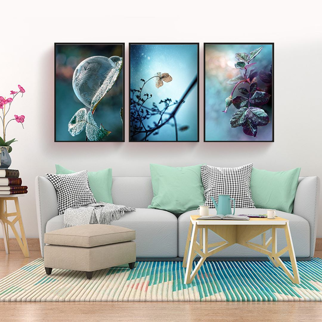 Ice Leaf Canvas Set