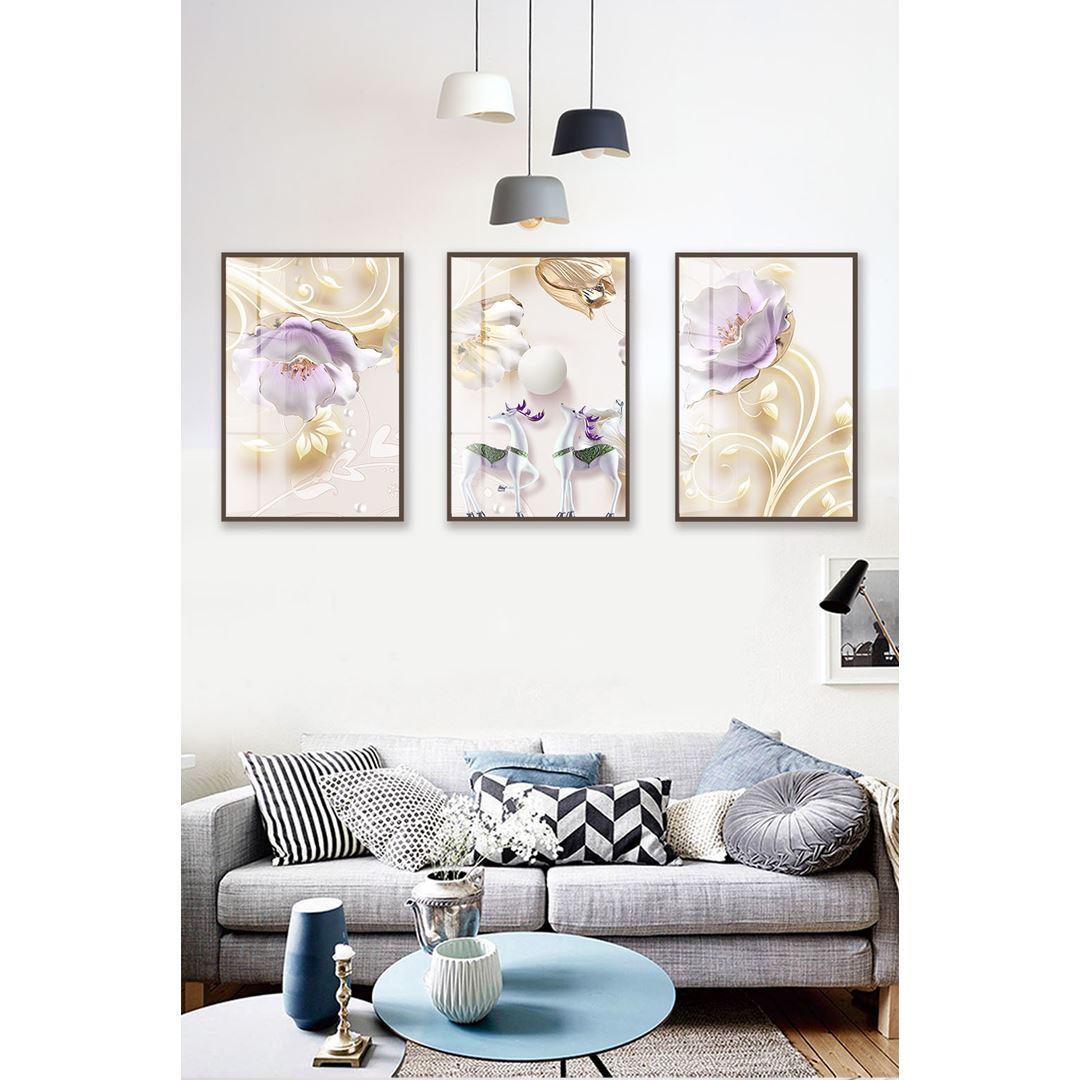 Modern Flower's Canvas Set
