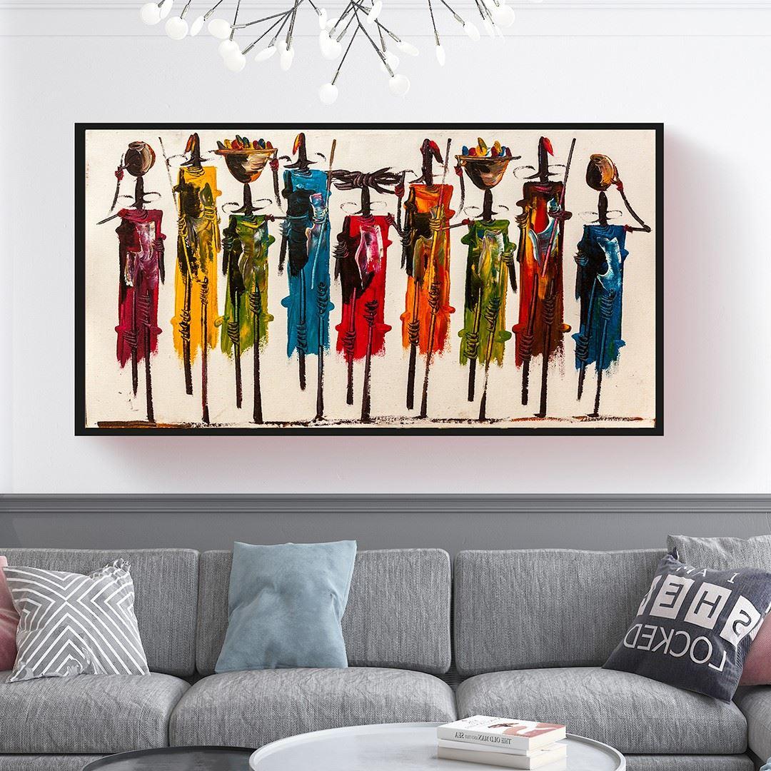 Soyut Sanat Afrikalı Kadınlar Kanvas Tablo