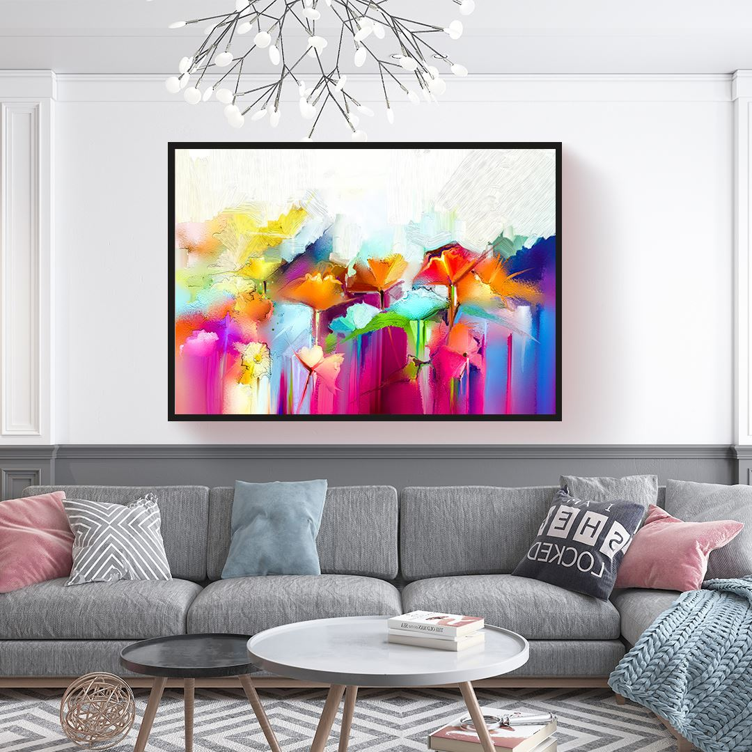 Trendy Flower's Canvas