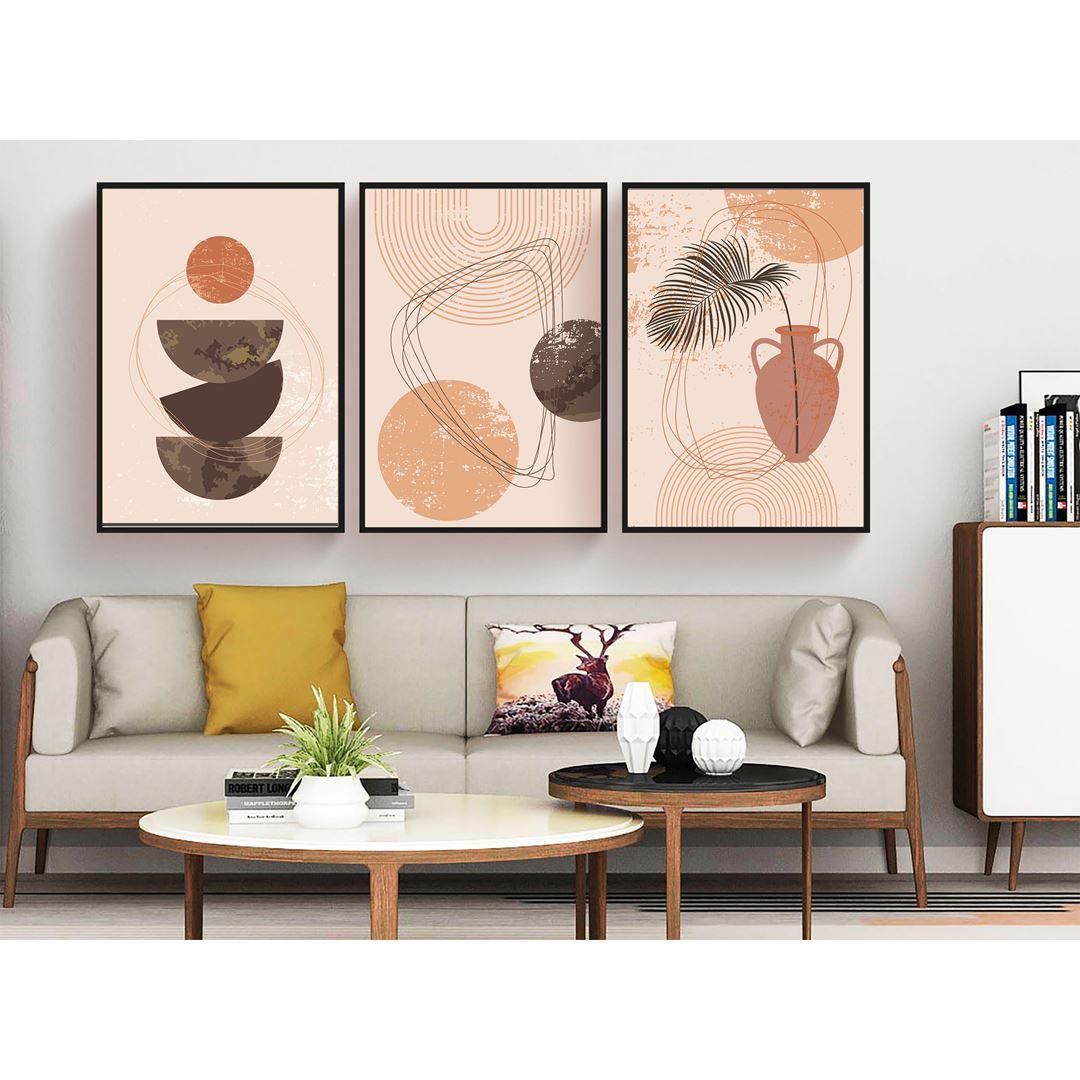 Modern Geometric Canvas Set