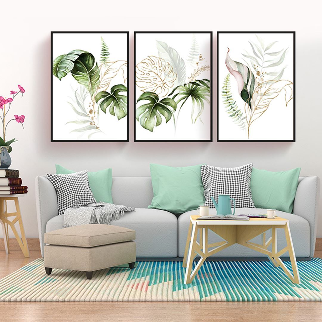 Modern Tropical Canvas Set