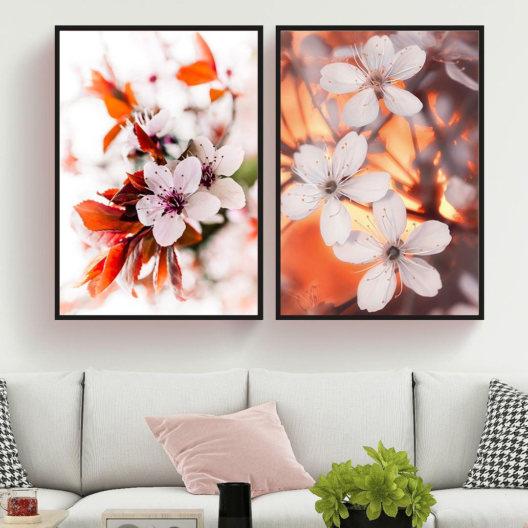 Spring Flowers Canvas Set