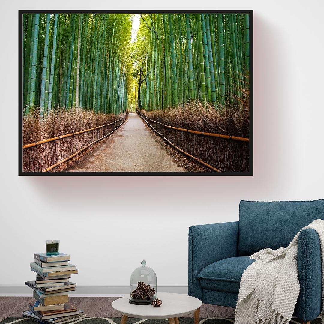 Bambu Yolu Kanvas Tablo