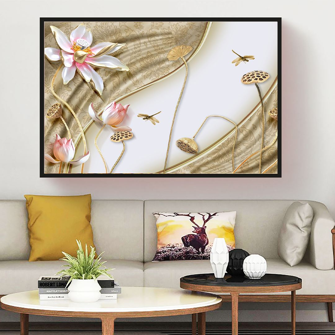 Trendy Flower Canvas