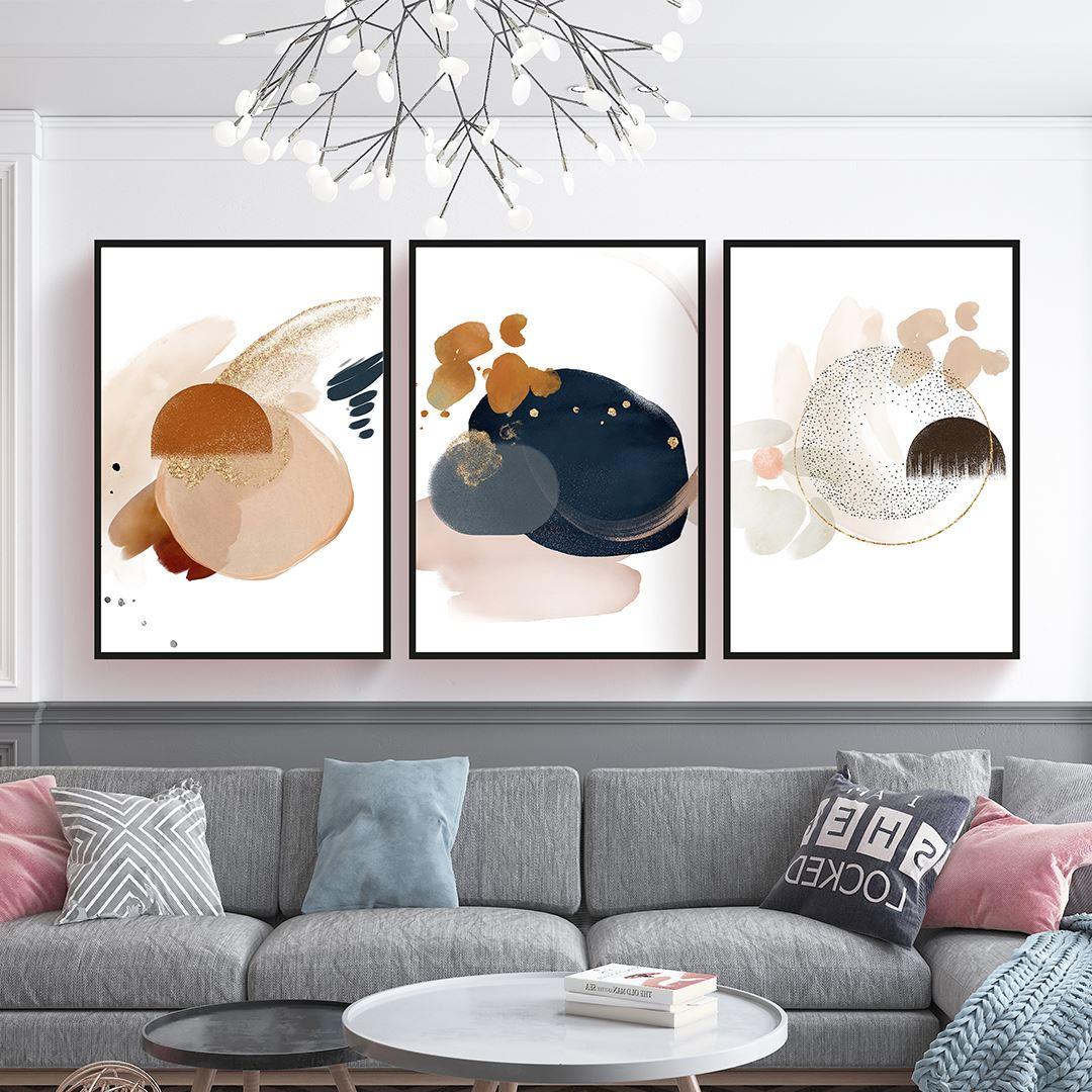 Modern Geometric Art Canvas Set
