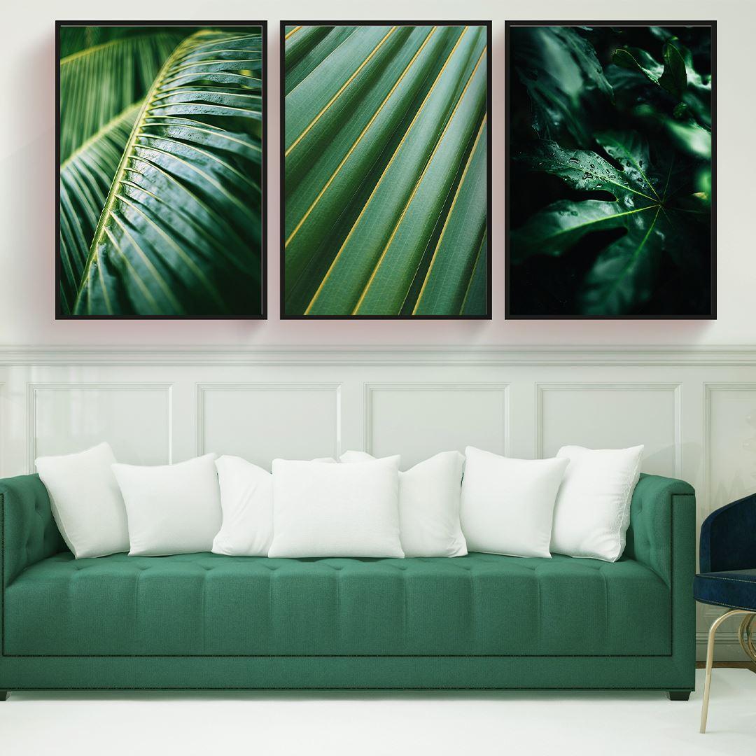Green Tropical Canvas Set