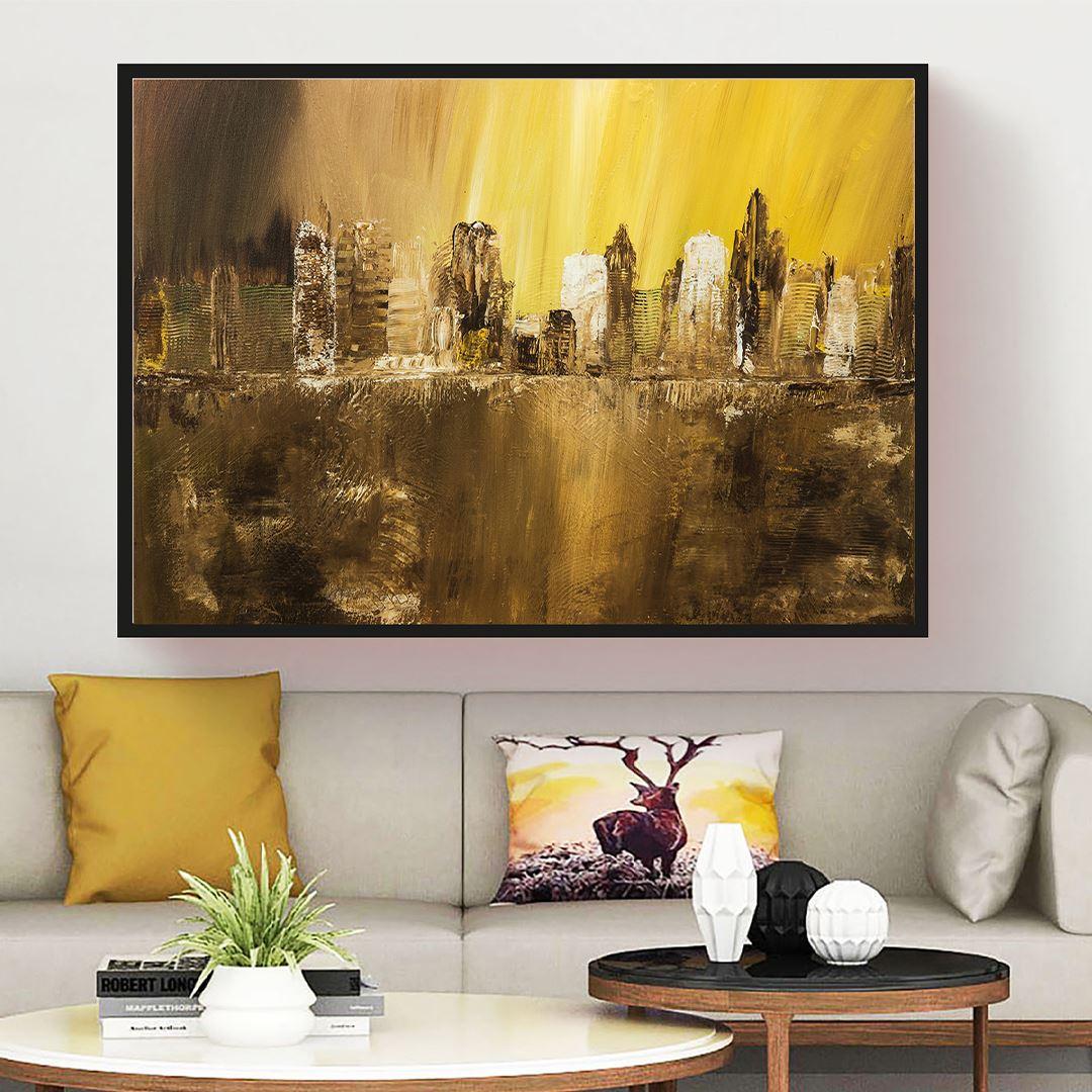 Minimal Art City Canvas