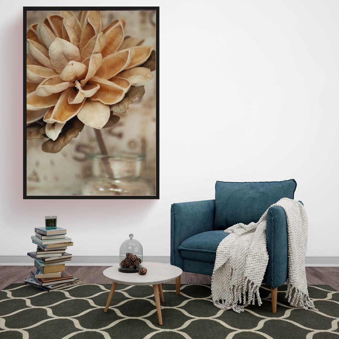 Brown Floral Canvas