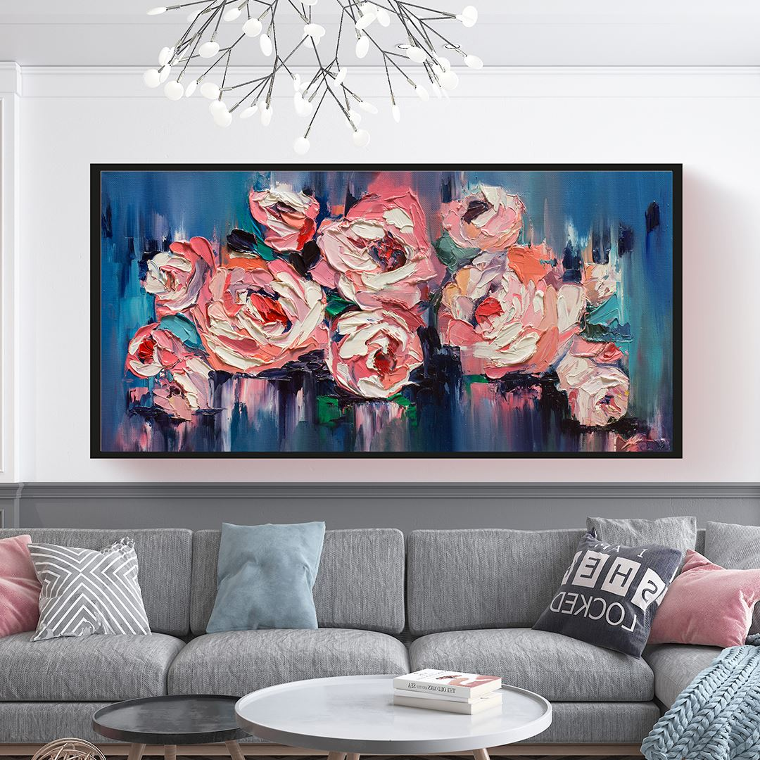 Large Rose's Panaromic Canvas