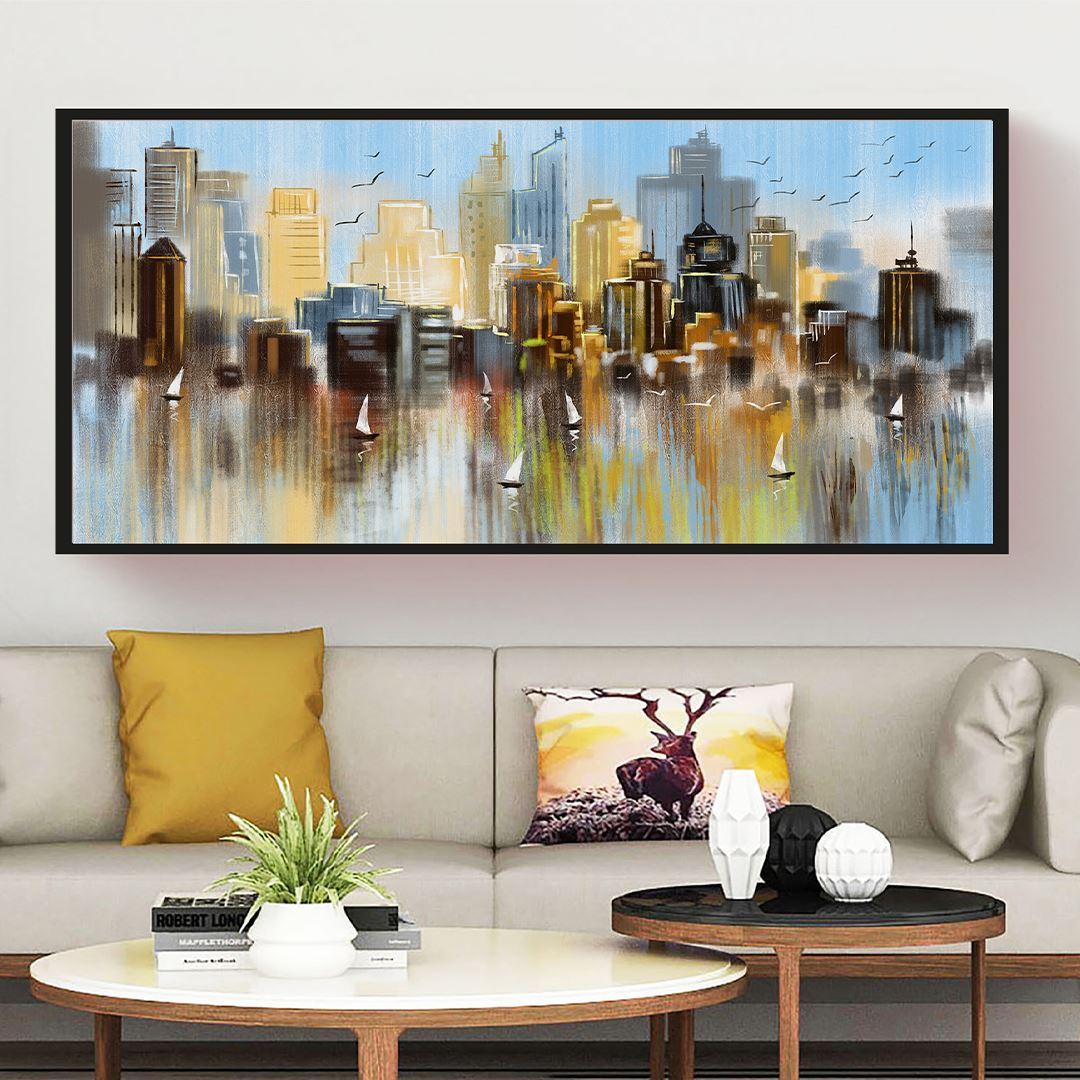 New York in City Panaromic Canvas