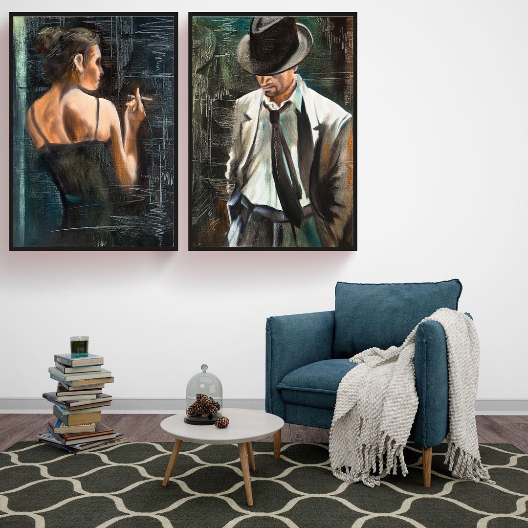 The Portrait Woman&Man Canvas Set