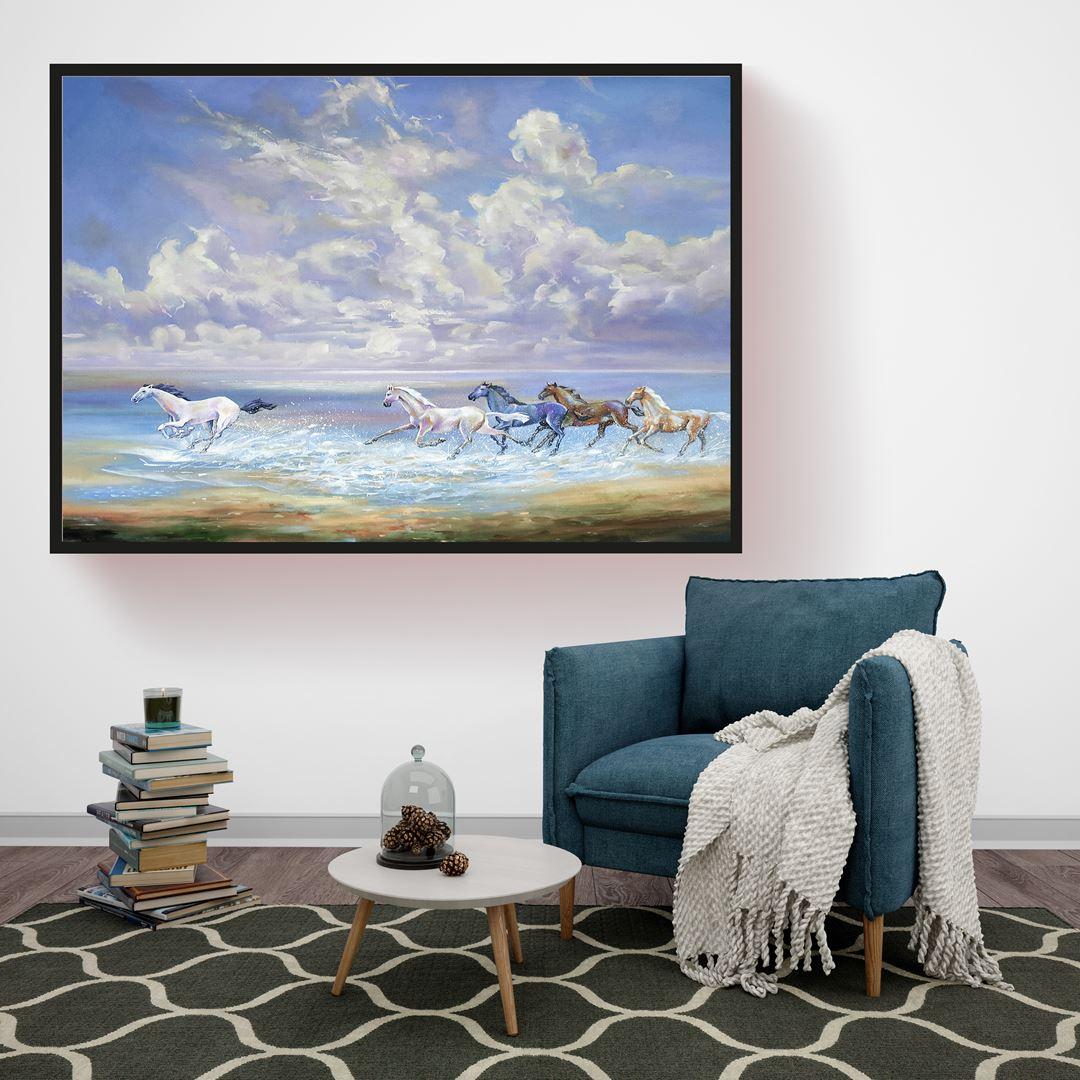 Horse and Sea Canvas