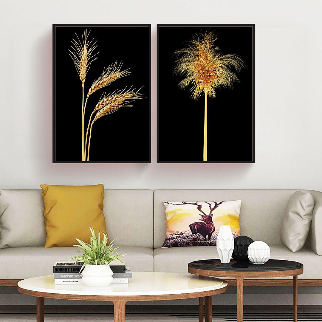 Wheat Spike Canvas Set