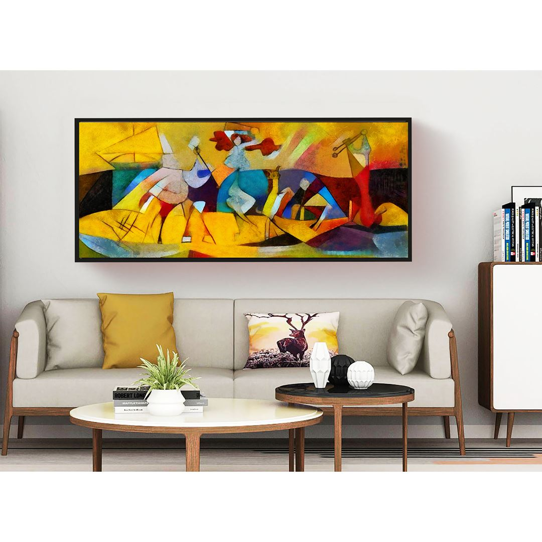 Artwork Painting By Picasso Panaromic Canvas