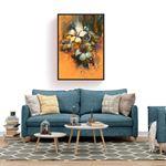 Natural Large Floral Kanvas Tablo