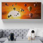 Uçan Balonlar Kanvas Tablo