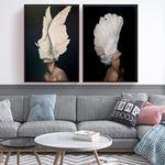 Feather Womens 2 Parça Set Kanvas Tablo