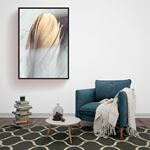 Gold Feather Canvas