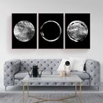 Silver Moon Canvas Set