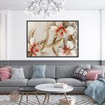 3D (KABARTMA) Görünümlü Modern Çiçek Kanvas Tablo