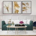 Gold and White II Modern Canvas Set