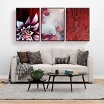 Modern Red Decor Canvas Set