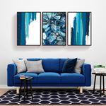 Modern Blue Decor Canvas Set