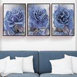 Large Rose's Canvas Set