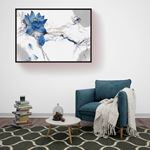 Natural Blue Floral Canvas