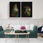 Modern Feather Canvas Set