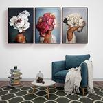 Flower Woman's Canvas Set