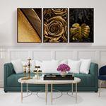Modern Altın Serisi Kanvas Set