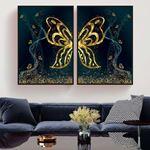 Altın Kelebek Kanatları Kanvas Set