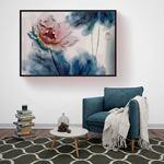 Kabartma Görünümlü Soft Çiçek Kanvas Tablo