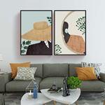 Minimalist Woman Canvas Set