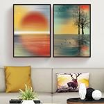 Doğal Manzara Renk Kombinasyonu Kanvas Set