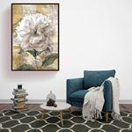 Natural Large Floral Canvas