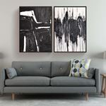 Black&White Modern Style Canvas Set