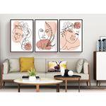 Minimal Woman Portrait Canvas Set