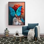 Butterfly and Woman Canvas