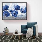 Blue Large Floral's Canvas