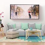 Love in the rain canvas